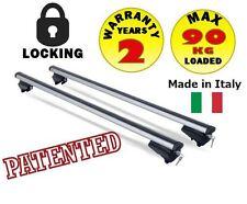 120 cm Aluminio Barras de techo coche rack para al ras bajo perfil rieles Intergrated