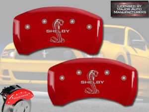 """2007-2014 Ford Mustang """"Shelby"""" GT500 Rear Red MGP Brake Caliper Covers """"Snake"""""""