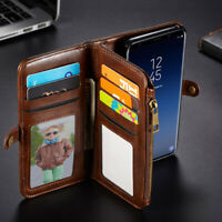 For Samsung Galaxy S8 S9 Note 8 Magnetic PU Leather Wallet Flip Stand Case Cover