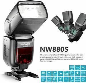 Neewer NW880 Flash Esclave Speedlite 2.4G Sans Fil 1-8000 HSS TTL Sony