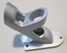 "2 POSITION FLAGPOLE BRACKET Silver Painted Aluminum for 1"" Diameter Flag Pole"