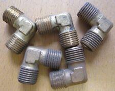 "Set of 5 Norgren 1/4""BSP Parallel Brass Elbow Fitting"