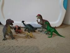 Lot Of 6 Unbranded Jurassic Dinosaurs Dilophosaurus T-Rex Ankylosaurus And More