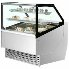 ISA Millennium 218 Pastry Display Case with Ventilated Refrigeration in Crate