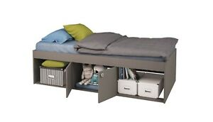 Kids Childs Teen Single 3ft Cabin Storage Bed Grey 90 x 190 cm - USED