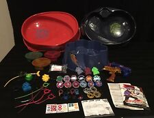 BEYBLADE LOT BEYBLADES LAUNCHERS STADIUMS TOPS RIPS CORDS EXTREME TOP SYSTEM XTS