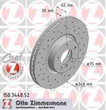 Disque de frein avant ZIMMERMANN PERCE 150.3448.52 BMW X6 xDrive30d 235 245ch E7