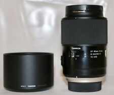 Nikon Tamron SP 90mm f/2.8 DI Macro 1:1 VC USD Mint Condition + Hood + Case