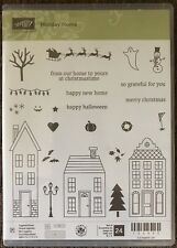 Stampin Up Holiday Home Christmas Halloween Clear Acrylic Rubber Stamps