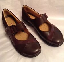 New🌹CLARKS🌹UK 4.5 ARTISAN UN SWAN UN-STRUCTURED LEATHER MARY JANES Brown 37.5