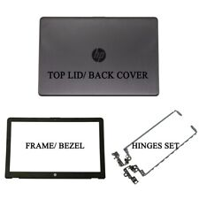 HP 15-BS 15-BW 15T-BR 15Q-BU 250 G6 LCD Black Back Cover 929893-001 + Hinges Set