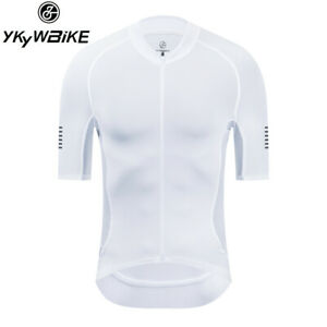 Men White Top Quality Summer Short Sleeve Cycling Jersey Pro Team Clothing