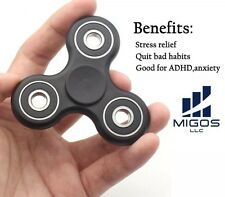 Black Anti-Anxiety 360° EDC Spinner Helps Focusing Fidget Toy White [3D Figit]