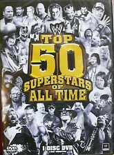 WWE: The Top 50 Superstars of All Time (DVD, 2010) BRAND NEW - FREE BONUS ITEM