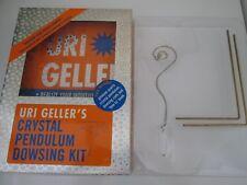 """Rare""""Crystal Pendulum Dowsing Kit"""", Dowsing set & Book by URI GELLER."""