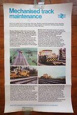 1960s Mechanised Track Maintenance Inter City Original Railway Travel Poster