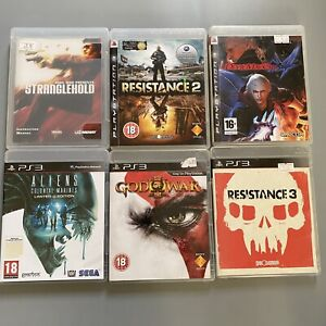 Playstation 3 PS3 Bundle of 6 Great Games - Boxed - Alien, God of War,Resistance