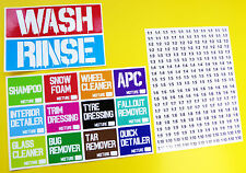 CAR VEHICLE DETAILING Bucket & Spray Bottle massive Sticker label Decal kit!
