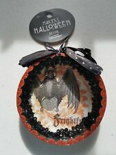 Halloween Ornament Hanging Glitter Sparkle Fun Bat Frightful NWT
