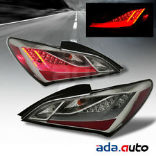 For 2010-2016 Hyundai Genesis Coupe [LED] Smoke Lens Tail Lights Lamps Set