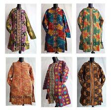 Handmade Reversible Vintage Coat Women Jacket Kantha Quilted jacket Size