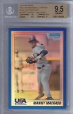 2010 Manny Machado Bowman Chrome USA Blue Refractor- BGS 9.5 w/10 sub- #141/250