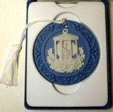 Wedgwood 1998 Annual Ornament - Lantern - Blue Jasperware