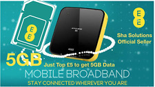 EE Trio 4G PAYGO Active Broadband Sim Card, Top Up £5 to Get 5GB 4G Data