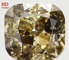 Natural Loose Diamond Brown Yellow Color Cushion SI2 Clarity 0.11 Ct KR1169