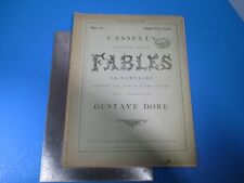 Vintage Cassell's Illustrated Book of Fables La Fontaine #10 - Gustave Dore L988