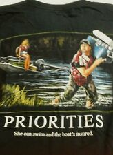 REDNECK PRIORITIES SHIRT Boat's Insured And SHE CAN SWIM T-Shirt BASS PRO SHOPS