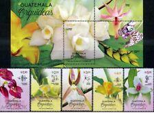 Guatemala 2020 flowers orchids set+s/s MNH