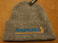 STAGECOACH STRIPES EMBROIDERED BEANIE HAT CUFFED NEW GREY BUS