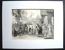 Lithographie / Costume Théâtre - Opéra / Reine de Chypre / C. Nanteuil  (1845 )