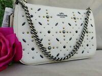 NWT Coach Nolita Prairie Rivets Chalk Small Purse Handbag Shoulder Bag