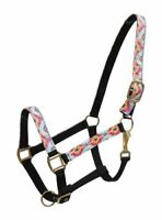 Showman MULTI COLORED NAVAJO Diamond Print Overlay NYLON Full Horse Size HALTER