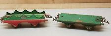 Ancien jouet  2 wagon marchandise ech O train  serie Hornby meccano