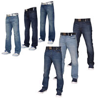 Smith and Jones Mens Denim Jeans Regular Boot Cut Trousers Pants All Waist Sizes