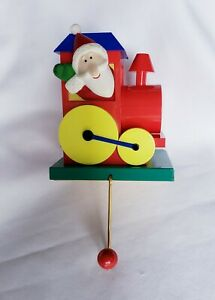 "1992 ""Christmas Train"" Stocking Holder Hanger Vintage Hallmark"