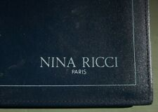 NINA RICCI PARIS WALLET NAVY BLUE LEATHER For DOLLAR BILLS CHECKS CHANGE and ID
