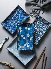 Japanese Style Ceramic Sushi Serving Platters Rectangular Sushi Plates