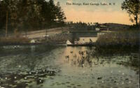 East Caroga Lake NY The Bridge c1910 Postcard