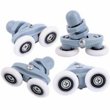 4Pcs Double roues de Remplacements de Roulettes Rouleaux de Porte de Douche
