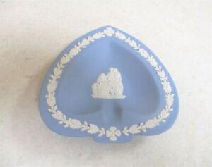 "Wedgwood  Blue Jasperware   "" Roman Figures""   Heart Pin Dish    Excellent Cond."