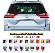 Custom Herbalife Sign Car Window Decal Sign Sticker Decals - Free Shipping