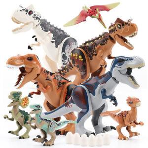 8x Dinos fit Jurassic World Lego Dinosaur Tyrannosaurus Toy TRex Park Raptor OL