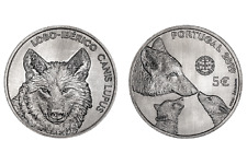 5 euro 2019 Portogallo Portugal Lobo Iberico Canis Lupus Lupo Wolf Португалия