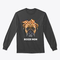 Funny Boxer Mom Dogs Gildan Long Sleeve Tee T-Shirt