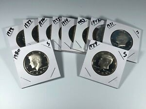 1980-s To 1989-s  KENNEDY HALF PROOF SET - 10 Year Decade Set #042