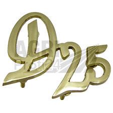 """Deutz Schriftzug Emblem /""""S/"""" für D25S D30S D50S aus massiv Messing D40S"""